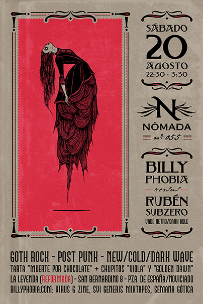 Nómada Session 055 - DJ Billyphobia - Gothic Rock, Post-Punk, New/Cold/Dark Wave, Deathrock, Alternative [...]