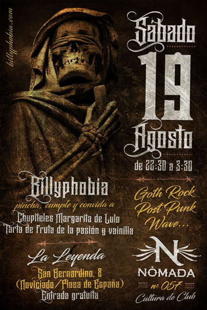 Nómada Session 057 - DJ Billyphobia - Gothic Rock, Post-Punk, New/Cold/Dark Wave, Deathrock, Alternative [...]