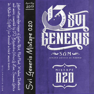 """ SUI GENERIS ; Vol. 020 - Gothic Rock, Post-Punk, Wave compilation"