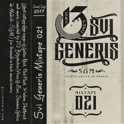 """ SUI GENERIS ; Vol. 021 - Gothic Rock, Post-Punk, Wave compilation"