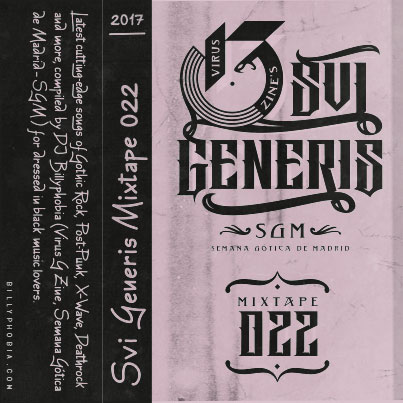 """ SUI GENERIS ; Vol. 022 - Gothic Rock, Post-Punk, Wave compilation"