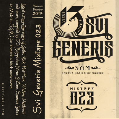 """ SUI GENERIS ; Vol. 023 - Gothic Rock, Post-Punk, Wave compilation"