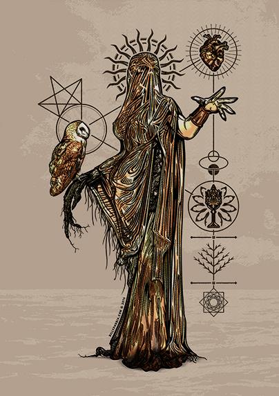 La Chela (In Memoriam) - Gothic Illustration for the VIII Semana Gótica de Madrid (SGM) by Billyphobia © 2016